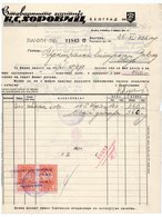 1936, YUGOSLAVIA, SERBIA JUDAICA, INVOICE ON LETTERHEAD, K.S. HOROVITCH, BELGRADE, 2 FISKAL STAMPS - Invoices & Commercial Documents