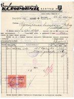 1936, YUGOSLAVIA, SERBIA JUDAICA, INVOICE ON LETTERHEAD, K.S. HOROVITCH, BELGRADE, 2 FISKAL STAMPS - Unclassified