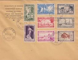 MONACO - LETTRE 5.3.1949 - Yv N° 324 à 331 /1 - Lettres & Documents