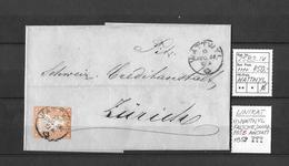 1854-1862 Helvetia (Ungezähnt) Strubel → UNIKAT !!! Rundstempel WATTWYL 1856 Anstatt 1859 ►SBK-25B3.IV◄ - Briefe U. Dokumente