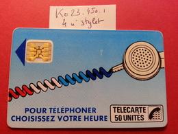 Ko23 Cordon Bleu Jean 50u SC4obSE - Texte 7 Sous E - Trou 7 - Lot 4 Stylets Hors Cadre N°8271 - France