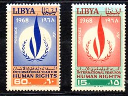 APR1305 - LIBIA LYBIA 1968 , Yvert  N. 315/316  ***  MNH . (2380A) - Libia