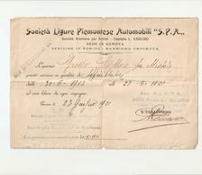 "DS--00008-- "" SOCIETA' LIGURE PIEMONTESE AUTOMOBILI ""S.P.A.OFFICINE IN TORINO-BARRIERA CROCETTA - Unclassified"
