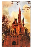 USA FL Walt Disney World Cinderellas Castle At Dusk Fantasyland Vintage Posstcard - Disneyworld