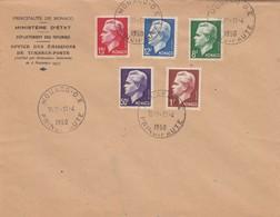 MONACO - LETTRE 11.4.1950 - PRINCE RAINIER III - Yv N° 344 à 348 /1 - Monaco
