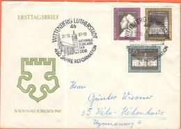 GERMANIA - GERMANY - Deutschland - ALLEMAGNE - DDR - 1967 - Nationale Jubiläen - FDC - Viaggiata Da Lutherstadt Wittenbe - FDC: Buste