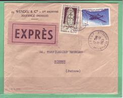 Lettre Express Jouef Meurthe & Moselle Pour Bienne 19.10.1963 - 1960-.... Covers & Documents
