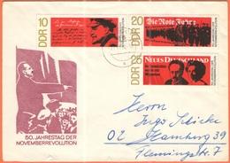 GERMANIA - GERMANY - Deutschland - ALLEMAGNE - DDR - 1968 - 50. Jahrestag Der Novemberrevolution - On FDC Cover - Viaggi - [6] Repubblica Democratica