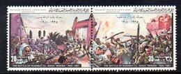 APR1404 - LIBIA LYBIA 1981 , Yvert  N. 933/934  ***  MNH . (2380A) Coppia Battaglia Benina - Libia