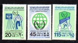 APR1406 - LIBIA LYBIA 1981 , Yvert  N. 922/924  ***  MNH . (2380A) Handicap - Libia