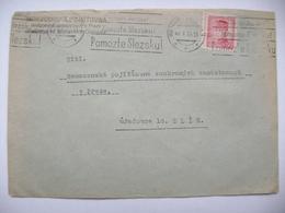 Cover 1946 Machine Cancel Moravska Ostrava - Pomozte Slezsku! - Help Silesia! - Stefanik 2,40 Kcs - Tschechoslowakei/CSSR