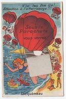 22 Locquémeau Carte Systeme Sous Le Parachute Vous Verrez Locquemeau - Autres Communes