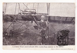 PK CP 1910 Aviation - Daniël Kinet ° Jumet Charleroi 1884 † Gentse Feesten !! Gent 1910 / Godinne S Meuse - Yvoir - Personnages Historiques