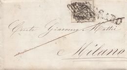 09 - PONTIFICIO - Bustina Con Testo Del 1859 Da Pesaro A Milano Con 8 Baj Bianco - Franca - - Stato Pontificio