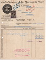 1933 YUGOSLAVIA, SLOVENIA,LJUBLJANA, POROSA,  INVOICE ON A FACTORY LETTERHEAD, 1 FISKAL STAMP - Invoices & Commercial Documents