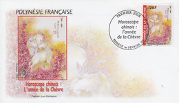Enveloppe  FDC  1er  Jour   POLYNESIE   Nouvel  An   Chinois   La   CHEVRE   2003 - Chinees Nieuwjaar