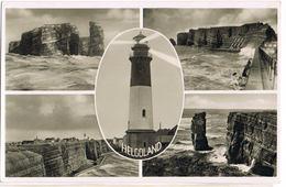 AK Helgoland, 4 Ansichten Mit Leuchtturm 1938 - Helgoland