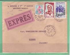 Lettre Exprès Hayange Pour Bienne 14.11.1961 - Covers & Documents