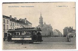 CPA CP Belgique Jette St Pierre Place Communale Tramway Sté Générale Chemins De Fer économique L Lagaert Bruxelles - Jette