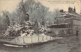 38 ISERE La Vedette Gauloise Et Le Jardin De Ville Effet De Neige à GRENOBLE - Grenoble