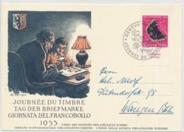 1953 - Tag Der Briefmarke - Journée Du Timbre - Giornata Del Francobolli - GENÈVE - Schweiz -Suisse - Svizzera - Giornata Del Francobollo