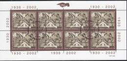 SCHWEIZ  1807, Kleinbogen, Gestempelt, Letzte Briefmarkenherstellung WZD, 2002 - Blocks & Sheetlets & Panes