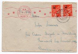 1947 YUGOSLAVIA, SLOVENIA, PODNART TO GERMANY, CENSORED, US CIVIL CENSORSHIP, MUNICH - 1945-1992 República Federal Socialista De Yugoslavia
