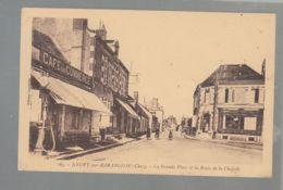 CPA (18) Neuvy-sur-Barengeon - Grande Place Et Route De La Chapelle - Autres Communes
