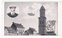 PK CPA Lokeren St-Laurentiuskerk / Aviation Dubbeldekker Biplane 'Voisin' / Baron P. De Caters ? / Imp. F. Dricot - Lokeren