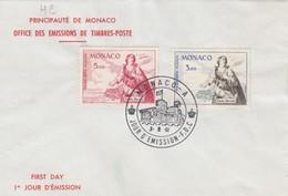 MONACO - FDC 3.6.1961 - SAINTE DEVOTE  - Yv N° PA 75-76    /2 - FDC