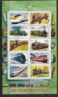 France 2001 Bloc Feuillet N° 38 Neuf Trains à La Faciale - Blocs & Feuillets