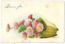 """67 - Panier De Marguerite """" En Relief"""" - Bonne Fête - Fleurs"""
