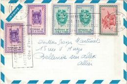 COTE D'IVOIRE - 1963 - ENVELOPPE PUBLICITAIRE LABORATOIRES BOCQUET A DIEPPE -SEINE MARITIME - HEXACYCLINE - Côte D'Ivoire (1960-...)