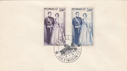 MONACO - FDC 16.5.59 - COUPLE PRINCIER - Yv N°PA 71-72 /2 - FDC