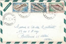 CONGO - 1963 - ENVELOPPE PUBLICITAIRE LABORATOIRES BOCQUET A DIEPPE -SEINE MARITIME - HEXACYCLINE - Oblitérés