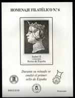ESPAÑA SPAIN ESPAGNE SPANIEN EDIFIL HOMENAJE FILATÉLICO 6 REINA ISABEL II PRIMER SELLO ESPAÑOL 2010 MNH - 1931-Hoy: 2ª República - ... Juan Carlos I