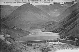 Carte Bleutée Allemont Allemond Oz Vaujany Maupas Barrage Col Du Glandon Canton Bourg DOisans - Autres Communes