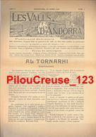 ANDORRE ESPAGNOL - LES VALLS D'ANDORRA - Revue - 1er Numéro Du 19/01/1919 De La Revue - 4 Pages - BON ETAT - Revues & Journaux