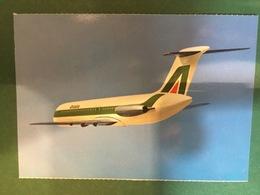 Cartolina Douglas Dc 9 30 - Fly Alitalia - 1970 Ca. - Cartoline