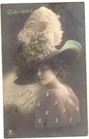 135 - Mode 1909 - Jeune Dame Chapeau Original - Mode