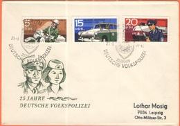 GERMANIA - GERMANY - Deutschland - ALLEMAGNE - DDR - 1970 - 25 Jahre Deutsche Volkspolizei - FDC - Viaggiata Da Berlin P - [6] Repubblica Democratica