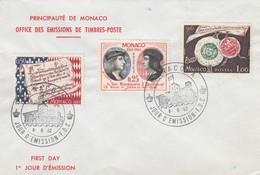 MONACO - FDC 6.6.1962 - 450e ANNIVERSAIRE DE LA SOUVERAINETE - Yv N° 576-577-578 /2 - FDC