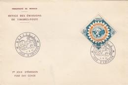 MONACO - FDC 7.6.1955 - CINQUANTENAIRE ROTARY INTERNATIONAL  - Yv N° 440 /2 - FDC