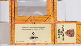 Boite Norev (hachette) VOITURE PORSCHE 924 - 1975 POLIZEI - Accessori