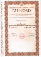 Ancien Titre - Compagnie Du Chemin De Fer Du Nord - N°1.066.599 - Chemin De Fer & Tramway