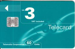 MALTA - Maltacom Telecard Lm 3/60 Units, CN : C76110015, 02/97, Used - Malta