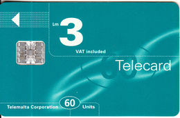 MALTA - Maltacom Telecard Lm 3/60 Units, CN : C69165777, 02/97, Used - Malte
