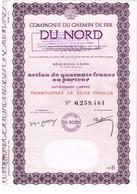 Ancien Titre - Compagnie Du Chemin De Fer Du Nord - Titre De 1965 N°0.259.461 - Chemin De Fer & Tramway