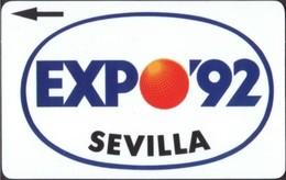 Spain - Plessey, Sevilla, Expo '92, Test / Demo Phonecard, White Back - Spain