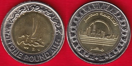 "Egypt 1 Pound 2019 (1440) ""New Capital City In Egypt"" BiMetallic UNC - Egypt"